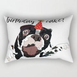 Do I smell birthday cake?  Dog Pawty! Rectangular Pillow