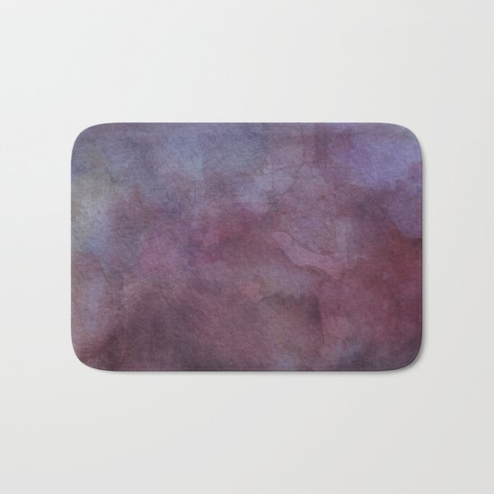 Purple Watercolor Nebula Galaxy Sky Bath Mat