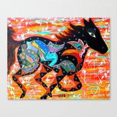 RUNNING MUSE Canvas Print