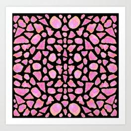 Pink Agate Shards Art Print