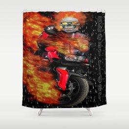 Fire Man Ghost Rider Shower Curtain