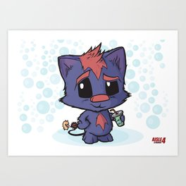 Soda Kitty Art Print