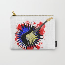 Solid Guitar Cartoon Explosion Carry-All Pouch