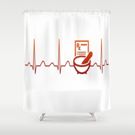 PHARMACIST HEARTBEAT Shower Curtain