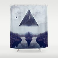 silence of the lambs Shower Curtains featuring silence by Peg Essert