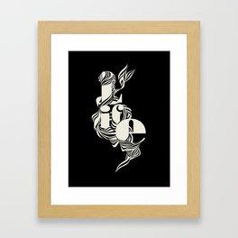 life_black Framed Art Print