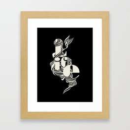 life_black Framed Art Print