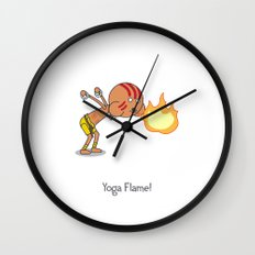 Yoga Flame! Wall Clock
