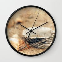 shells Wall Clocks featuring Shells by Joanna Pechmann