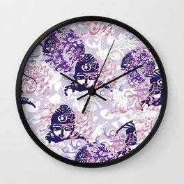 Qajar Faces Wall Clock