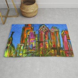 Philly Neon Skyline Rug