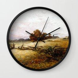 Charles Ethan Porter Autumn Landscape Wall Clock