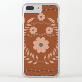 Flower Pattern11 Clear iPhone Case