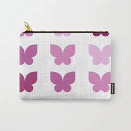 Butterflies in Purple Ombre Carry-All Pouch