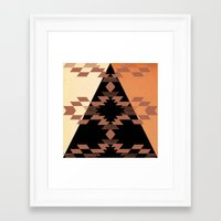 mexico Framed Art Prints featuring Mexico by Laura Santeler
