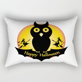 Happy Halloween - Funny Owl Rectangular Pillow