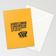 Definition of a Gentleman Stationery Cards