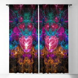 Dark Space Time Romance Blackout Curtain