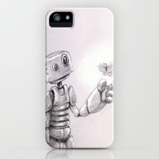 The Awkward Robot and the Luminous Butterfly Slim Case iPhone (5, 5s)