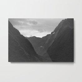 Flight entering Milford Sound New Zealand South Island Metal Print
