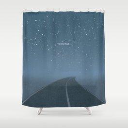 "Jack Kerouac ""On the Road"" - Minimalist literary art design, bookish gift Shower Curtain"
