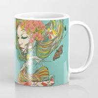 geisha Mugs featuring Geisha by Huebucket