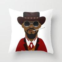 django Throw Pillows featuring DJANGO by Capitoni