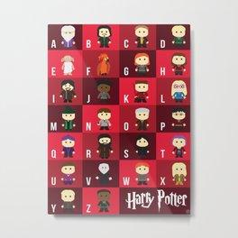Harry Potter Alphabet Metal Print