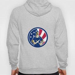 American Butcher USA Flag Icon Hoody