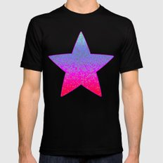 Glitter Star Dust G244 LARGE Black Mens Fitted Tee