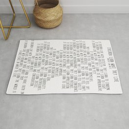 Children Learn What They Live  #minimalism Rug