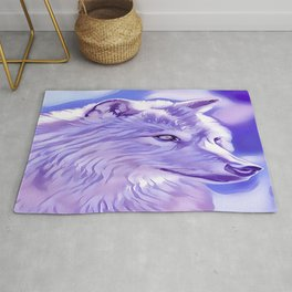 The Silver Wolf Rug