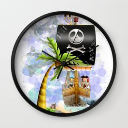 The Moeraki Pirates Wall Clock