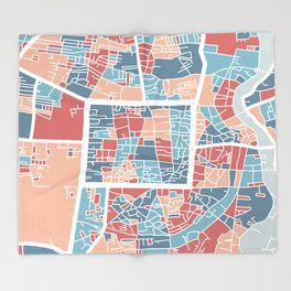 Chiang Mai map Throw Blanket