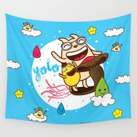 yolo Wall Tapestries featuring YOLO by Wackymons