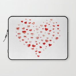 LOVE you! Watercolor Hearts. Valentine's Day Card Laptop Sleeve