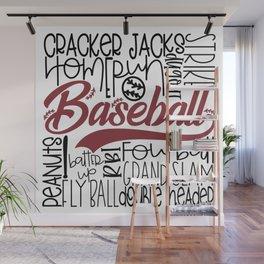 Baseball Typo Wall Mural