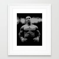 mike tyson Framed Art Prints featuring Tyson by iankingart