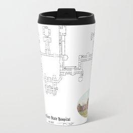 Hudson River State Hospital Blueprint Print Travel Mug