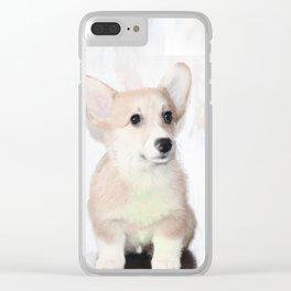 Corgi Puppy Clear iPhone Case