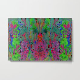 Garish Hidden Clown (Psychedelic, Op Art, Abstract) Metal Print