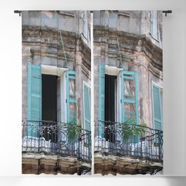 New Orleans French Quarter Balcony Blackout Curtain