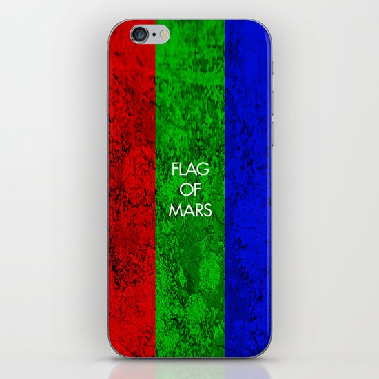 THE FLAG OF MARS iPhone & iPod Skin