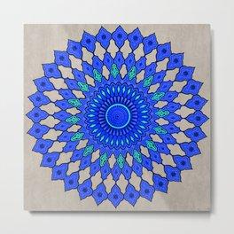 Circle Tile Pattern Metal Print