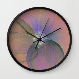 Fairy Blossom Fractal Wall Clock