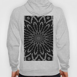 Shooting Star Black and White Kaleidoscope Hoody