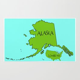 Alaska and the Lower 48 Forty-eight Rug