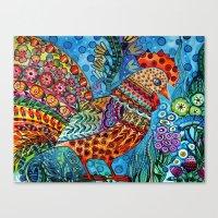 cock Canvas Prints featuring Cock by oxana zaika
