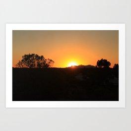 Red Uluru Art Print