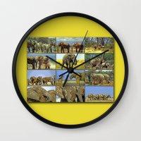 wildlife Wall Clocks featuring Wildlife by Karl-Heinz Lüpke